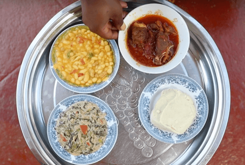 plate of sustainable and diverse food